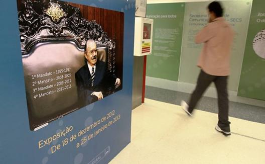Jos.é Sarney é homenageado em exposição sobre seus mandatos à frente do Senado. Foto: André Borges/Folhapress